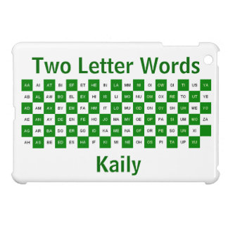 Two Letter Words  Green and white   US ver. Cover For The iPad Mini