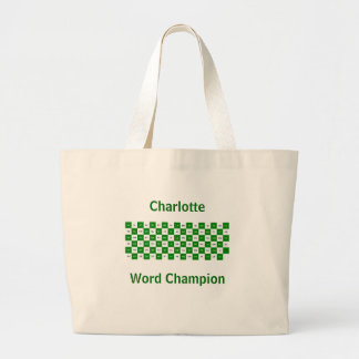 Two Letter Words  Green and white US version Jumbo Tote Bag
