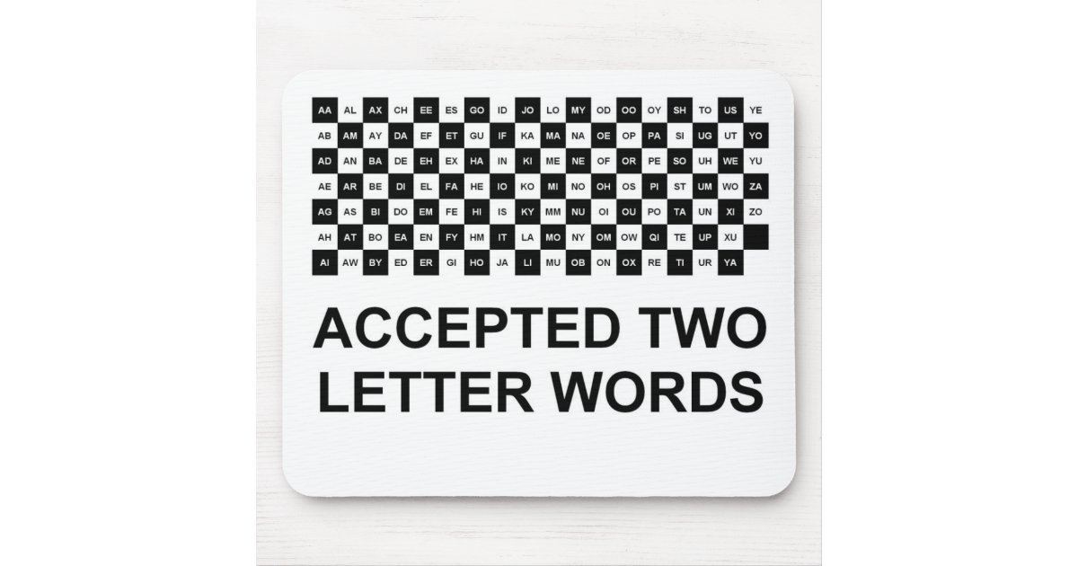 two letter words with z two letter words mouse pad int version zazzle 35333