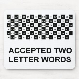 Two letter words mouse pad US version