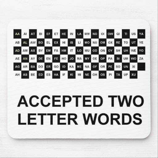 two letter words with z two letter words mouse pad us version zazzle 35333