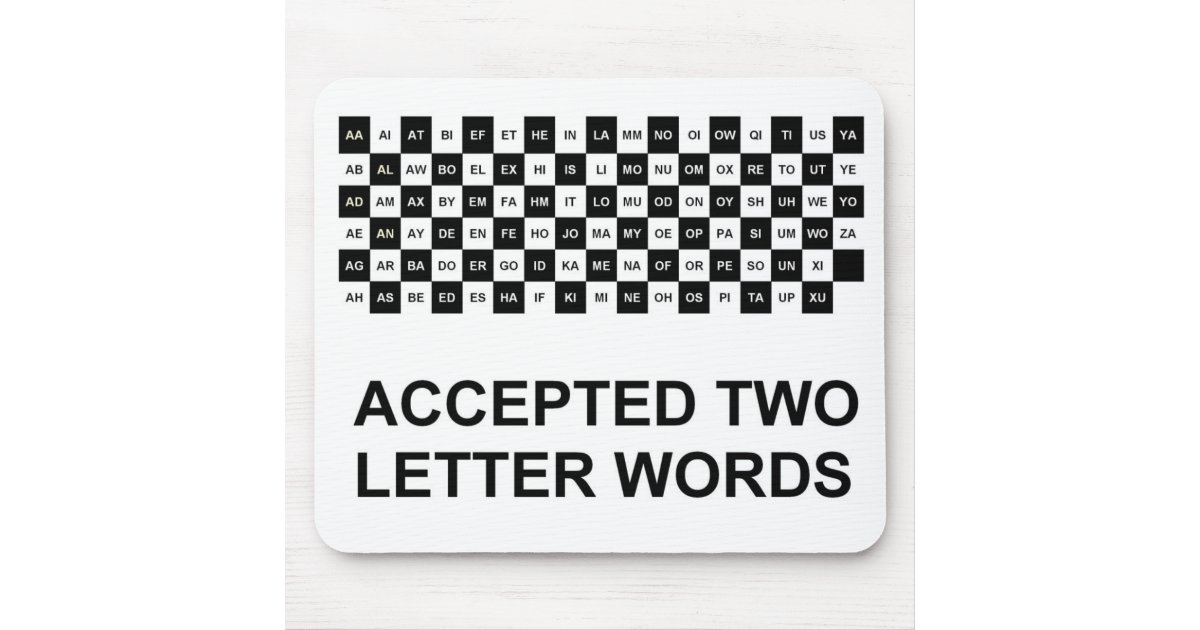 double letter words two letter words mouse pad us version zazzle 10666 | two letter words mouse pad us version r54d54dda5aa5489b868655aad6d20640 x74vi 8byvr 630