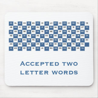 Two letter words mousepad (Int. version)