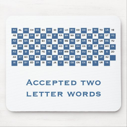 2 letter z words two letter words mousepad int version zazzle 20039