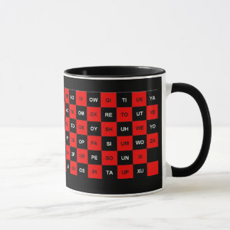 two letter words red and black US version Mug