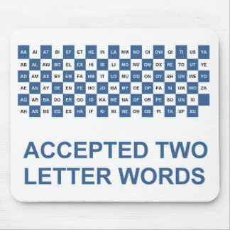 Two letter words US version Mouse Pad