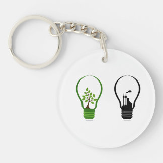 two lightbulbs one eco one black city.png keychain