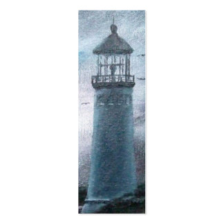 Two Lighthouses Bookmark Double-Sided Mini Business Cards (Pack Of 20)