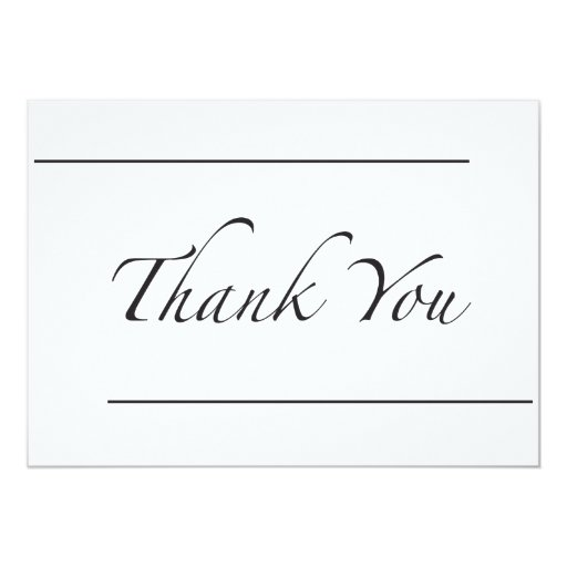 Two Line Thank You 5x7 Paper Invitation Card