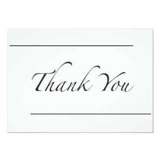 Two Line Thank You Card