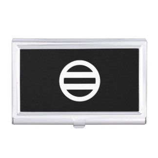 Two lines, encircled business card holder