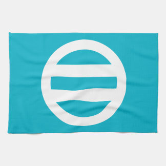 Two lines, encircled kitchen towel
