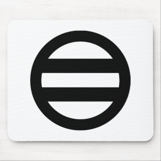 Two lines, encircled mouse pad