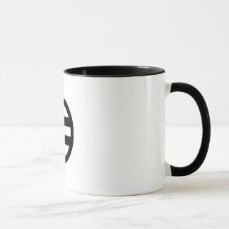 Two lines, encircled mug