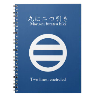 Two lines, encircled notebook
