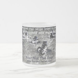 Two lines frosted mug