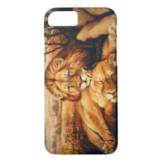 Two Lion couple iPhone 7 Case