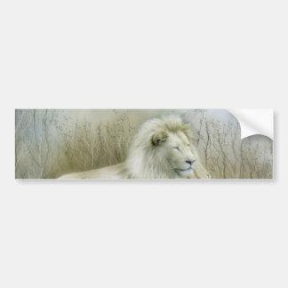 Two lions at rest art design bumper sticker