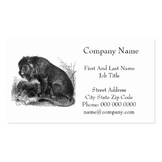 Two Lions in the Wilderness Business Card