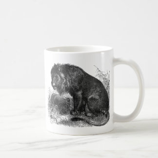 Two Lions in the Wilderness Coffee Mug