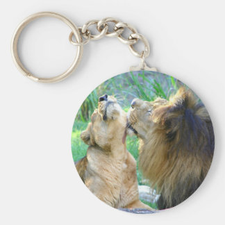 Two Lions Keychain