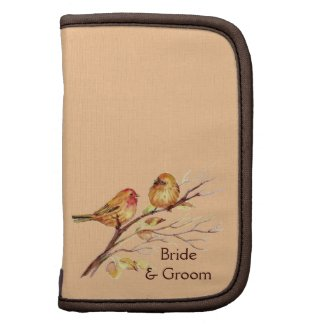 Two Little Bird Sparrows Peach Brown Rustic Nature rickshawfolio