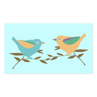 Two little birds business card