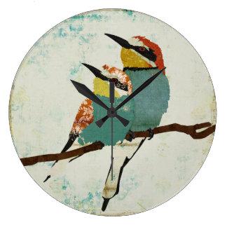 Two Little Birds Clock