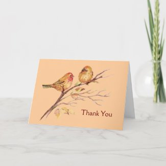 Two Little Birds Custom Thank You card
