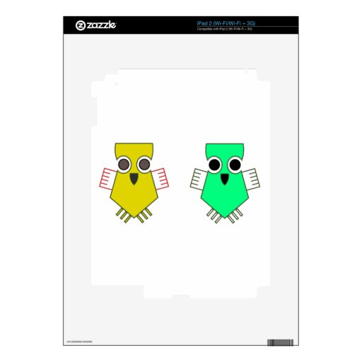 Two Little Birds Skin For iPad 2