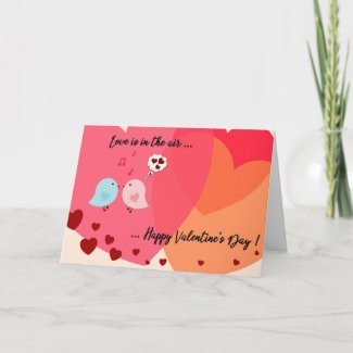 Two little birds Valentine's Day Card