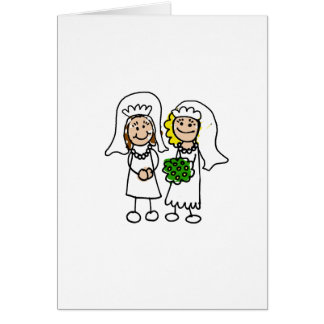 Two Little Brides Greeting Card