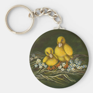 Two little ducklings keychain