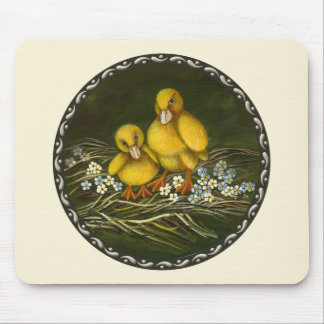 Two little ducklings mouse pad