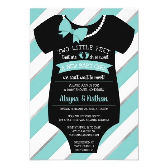 Two Little Feet Baby Shower Invitation Zazzle