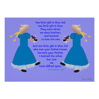 Two Little Girls in Blue (Poster) Poster