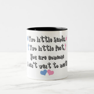 Two Little Hands Two-Tone Coffee Mug