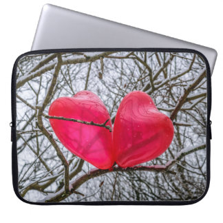 Two Little Hearts Kissing In A Tree Computer Sleeve