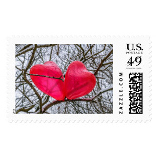Two Little Hearts, Kissing In A Tree Postage