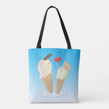 Beach Themed Two Little Ice Creams Dancing On Cloud Nine Tote Bag