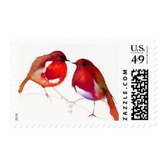 Two Little Ink Birds 2014 Postage Stamp
