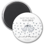 two little kissing birds STD 2 Inch Round Magnet
