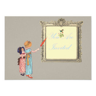 Two Little Ladies Card