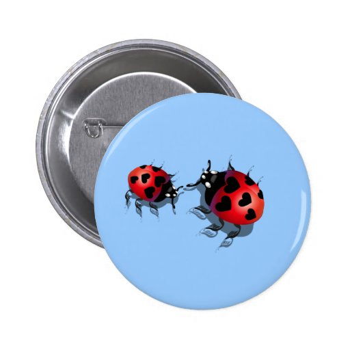 Two Little Ladybugs Magnet Button