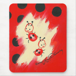 Two Little Ladybugs Mouse Pad