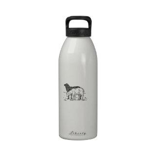 Two Little Lambs Sketch Reusable Water Bottles
