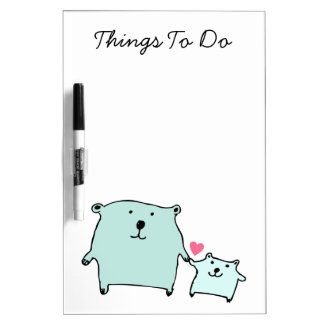 Two Little Love Bears Dry-Erase Board