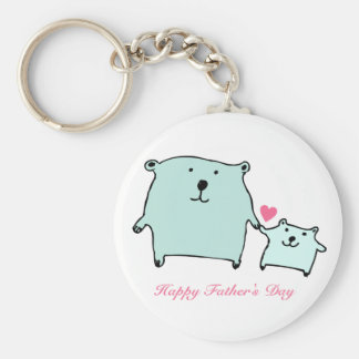 Two Little Love Bears Father's Day Keychain