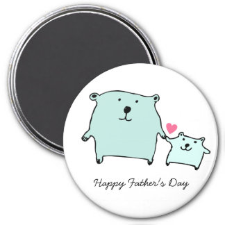 Two Little Love Bears Father's Day Magnet