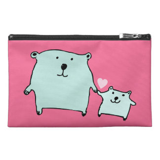 Two Little Love Bears Pink Accessory Bag